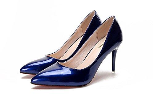Jqdyl High Heels Leicht Ferse Spitze Schwarz Einzelne Schuhe Weiblich Rot