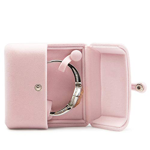 Oirlv Pink Velvet Bangle Gift Box Bracelet Storage Case Jewelry Gift Boxes