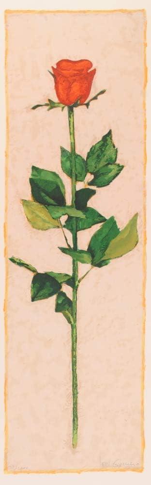 ジョアン・ゲレロ 「レッド・ローズ」 花 絵画 薔薇 リトグラフ 版画 額付き