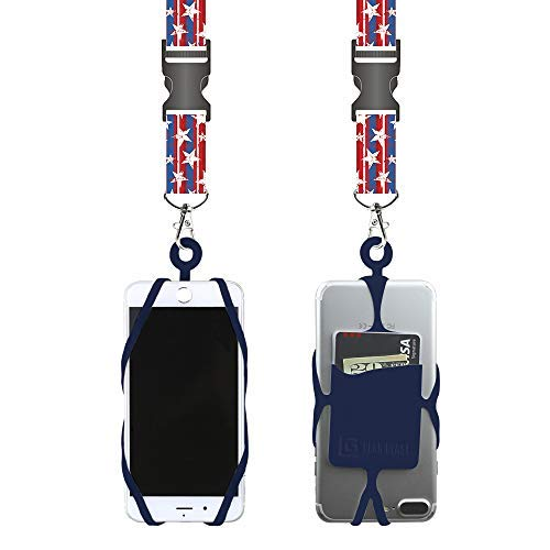 Gear Beast Universal Cell Phone Lanyard Compatible with iPhone, Galaxy & Most Smartphones Includes Phone Case Holder with Card Pocket,Soft Neck Strap with Breakaway Clasp & Detachable Convenience Cli (Cash For Used And Broken Cell Phones)