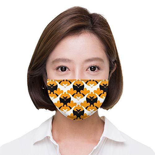 Unisex Bat Halloween Pattern Warm Fashion Washable Mouth Mask, Anti-dust Face Mask for Men and Women