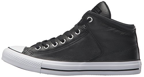 Pictures of Converse Men's Street Leather High Top 149426C Black/Black/White 5