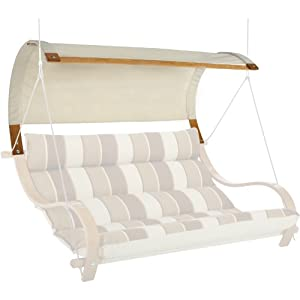 Hatteras Hammocks Deluxe Double Swing Canopy - Natural Chambray  sc 1 st  Amazon.com & Amazon.com: Hatteras Hammocks Deluxe Double Swing Canopy - Natural ...