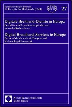 Book Digitale Breitband-Dienste in Europa; Digital Broadband Services in Europe