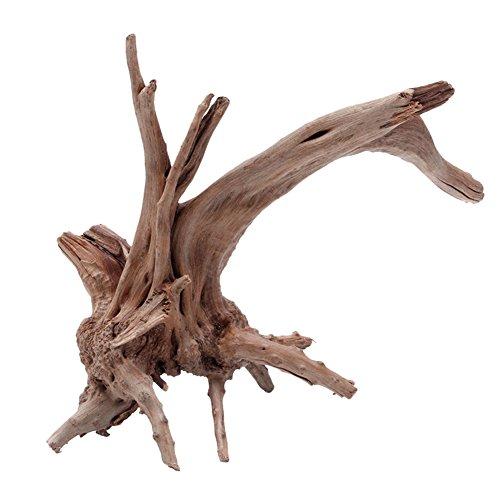 Zeroyoyo Tree Trunk Driftwood Aquarium Fish Tank Reptile Cylinder Making Roots Plant Wood Decoration ()