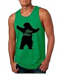 Allntrends Men's Tank Top Papa Bear Family Shirt For Dad Xmas Cute Top