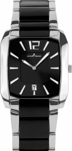 Jacques Lemans Men's 1-1628A Dublin Classic Analog with HighTech Ceramic and Sapphire Glass Watch