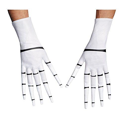 [Disguise Costumes Jack Skellington Gloves, Adult] (Jack Skellington Mask)