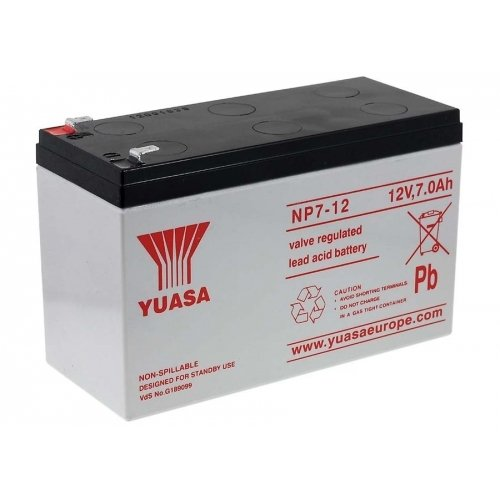 YUASA replacement battery for wheel chairs, electric vehicles electric scooter, Children's vehicle 12V 7Ah, 12V, Lead-Acid Children' s vehicle 12V 7Ah 1.86.YUA.2.15