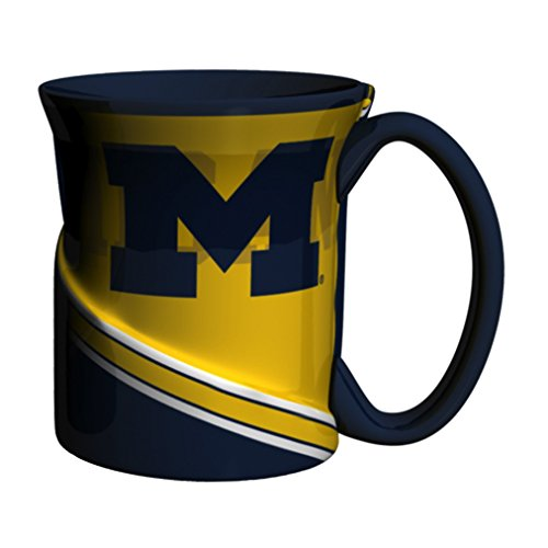 NCAA Michigan Wolverines Sculpted Twist Mug, 18-ounce