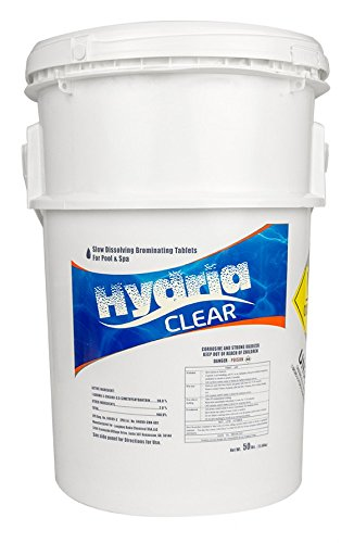 Hydria Clear 1 Inch Bromine Tabs - 50 Pound Bucket