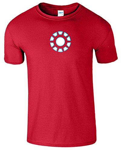 """SNS Online Kirschrot - XXL - Brustumfang : 50"""" - 52"""" - Iron Man Arc Reactor Frauen Der Männer Damen Unisex T Shirt"""