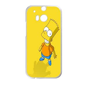 DIY Printed The Simpsons hard plastic case skin cover For HTC One M8 SN9V092216