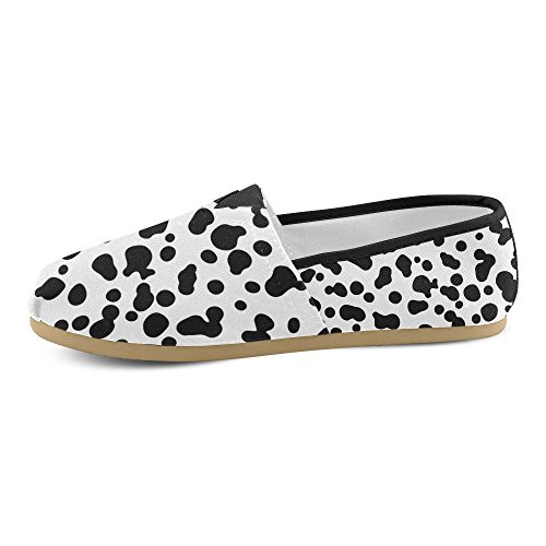 M-story Fashion Sneakers Flats Womens Classic Slip-on Canvas Mocassini Stampa Mucca