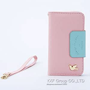 ModernGut Retro Series Fly Bird Leather Case For for iPhone 4 4G 4S Flip Phone Bag With Mirror and Strap With Card Holder Cover