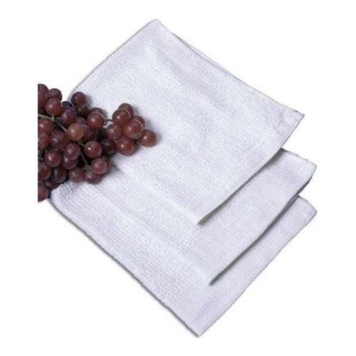 Ritz White Ribbed Terry Bar Mop Towel, 16 x 19 inch -- 12 per case. - Bar Mop Towels 16x19