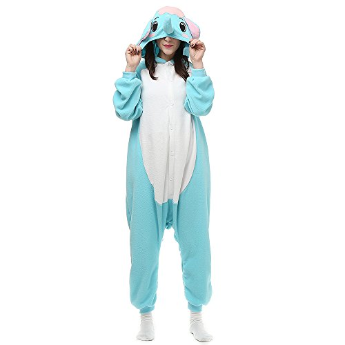 Pijamas Unisexo Adulto Traje Halloween Animal Pyjamas Cosplay Homewear LTY83Azul