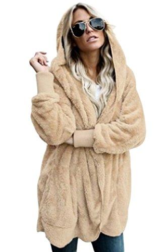Large Size Zipper Tasca Jacket per albicocca Polar Outwear Women Yulinge u3FcT1JlK