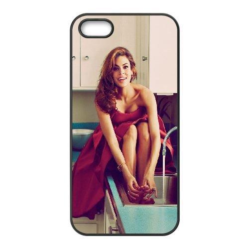 Eva Mendes coque iPhone 5 5S cellulaire cas coque de téléphone cas téléphone cellulaire noir couvercle EOKXLLNCD23588