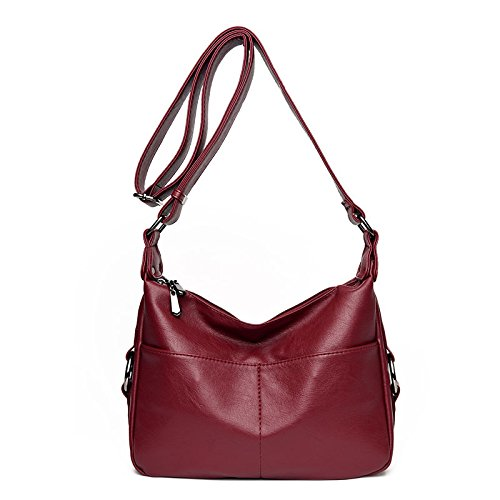 WLFHM Madre De Mediana Edad Bandolera Bolso Simple Casual Bandolera Bolso Red