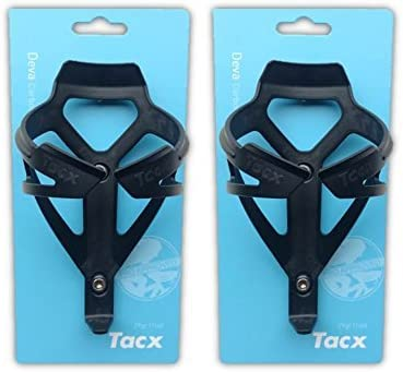 Tacx Deva Water Bottle Cages – Matte Black- Pair 2 Cages