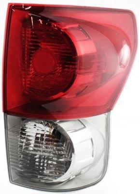 Evan-Fischer EVA15672033570 Tail Light Passenger Side RH Plastic lens OE design Clear and red DOT, SAE - Side Passenger Design