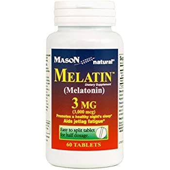 Mason Natural Melatonin 3 Mg, 60 Tablets