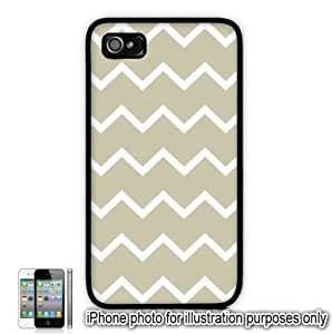 Tan Thin Chevrons Pattern Apple iPhone 4 4S Case Cover Skin Black