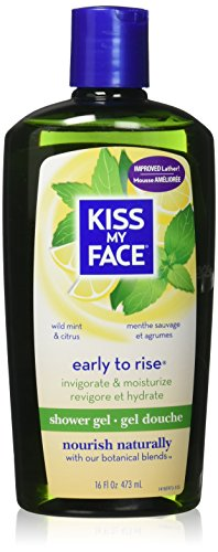 Kiss My Face Invigorating Early To Rise Shower Gel - Wild Mint & Citrus - 16 oz