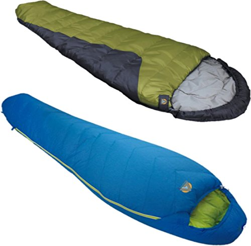 Alpinizmo High Peak USA Summit 20 Sleeping + Tr 0 Sleeping Bag Combo Set, Blue/green, One Size
