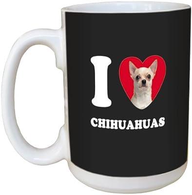 Tree Free Greetings LM45031 I Heart Chihuahuas Ceramic Mug with Full-Sized Handle 15-Ounce White