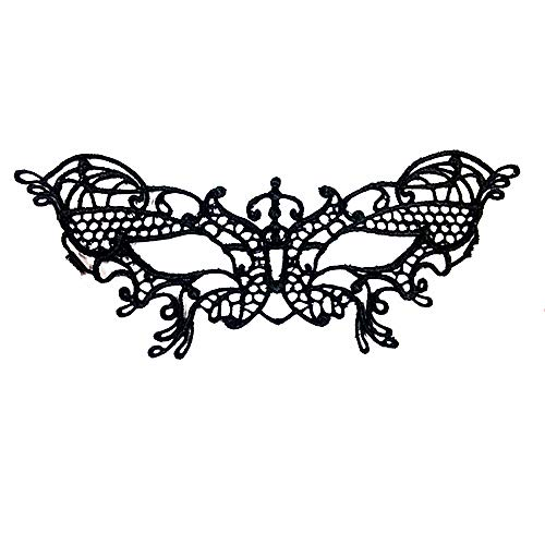 Lace Masquerades Masks Butterfly for Adult/Kids,Elastic (Black)]()