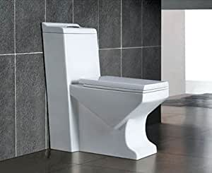 Modern Bathroom Toilet - One Piece Dual Flush - Nasino