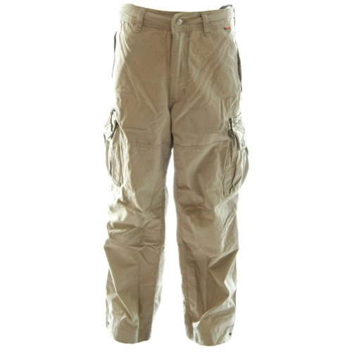 Dry Hydrogen Mens Cargo Combat Pants 45019 - 100% Cotton Premium Quality Combats, X-Large Desert Khaki Cream Khaki Cargo Cream