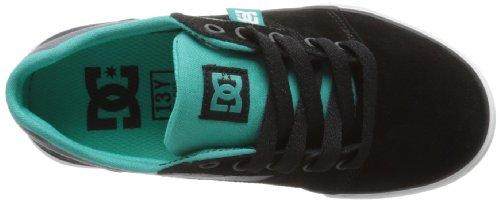 DC Shoes Bristol B Shoe Kbu - Zapatillas de Deporte de otras pieles niño negro - Noir (Blk/Deep Ul Mar)