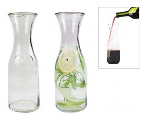 Carafe Glass Decanter Carafe Water Jug Juice Jug Wine Bottle Carafe 1L Embossed RKW