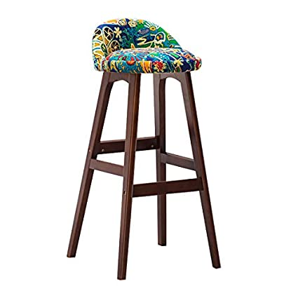 Prime Amazon Com Bar Stool Brown Solid Wood Creative Colorful Pdpeps Interior Chair Design Pdpepsorg