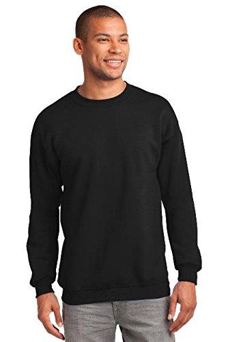 Port & Company 174 - Essential Fleece Crewneck Sweatshirt. PC90 2XL Jet Black