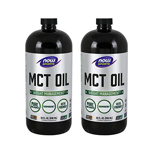 Now Foods MCT Oil, 32 Ounce (Pack Of 2) (packaging may -