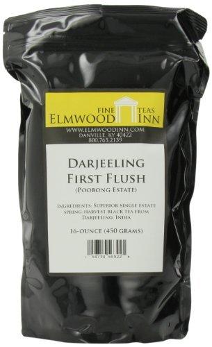 Elmwood Inn Fine Teas, Darjeeling First Flush (Finest Tippy Golden Flowery Orange Pekoe 1) Black Tea, 16-Ounce Pouch by Elmwood Inn