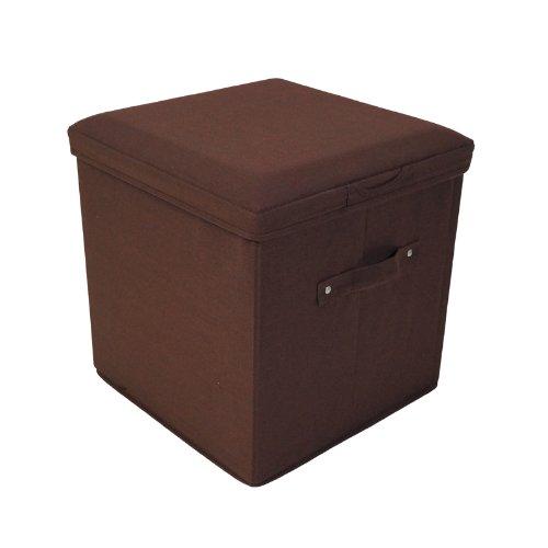 Yu Shan Folding Storage Ottoman T/C, Brown