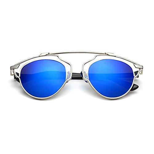 PenSee Womens Fashion Designer Retro Style Mirror Polarized - Dior Sunglasses Fake