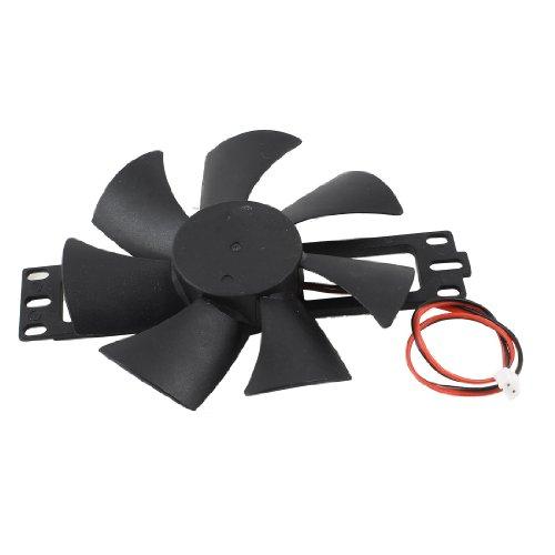 uxcell DV 18V Plastic Cooling Fan for Induction Cooker Black