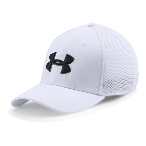 Under Armour Men's Golf Mesh Stretch 2.0 Cap, White (100)/Black, Large/X-Large