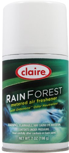 Claire C-114 7 Oz. Rain Forest Metered Air Freshener Aerosol Can (Case of 12)