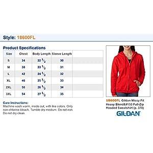 Gildan Ladies Heavy Blend Full Zip Hooded Sweatshirt, Sport Grey, X-Large