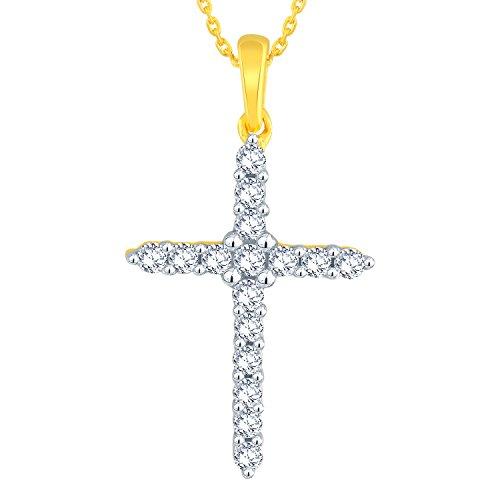 Giantti Diamant Pendentif Femme Collier (0.2055CT, qualité HSI, Gh-colour)