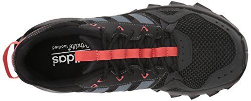 adidas Women's Rockadia w Trail Running Shoe, Carbon/Raw Steel/Trace Scarlet, 6.5 M US by adidas (Image #8)