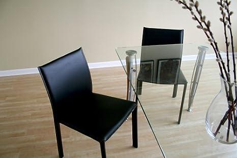 Amazon.com: Baxton Studio Edda silla de comedor de piel, set ...