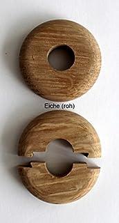 Único de rosetones para tubos de calefacción, madera de arce, haya, roble, Cereza, Nuez, caoba, protectora para…